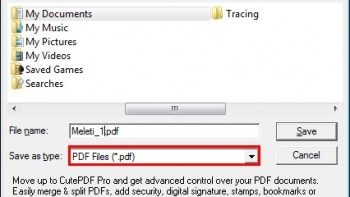Αποθήκευση αρχείου ως αρχείο pdf