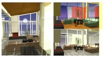 Εσωτερικό κατοικίας, διαφορετικές απόψεις (αρχιτ. μελέτη: Μ. Φίλιππα)