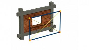Προσομοίωση υφιστάμενης τοιχοπλήρωσης με άνοιγμα