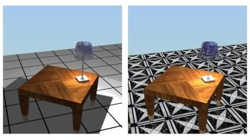 Τρισδιάστατη γεωμετρία επιφάνειας (fractal imaging) και υπέρθεση εικόνας υλικού (texture mapping).