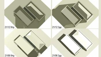 Μελέτη σκιασμού με το Τέκτων. Απεικονίστε ρεαλιστικά τις εριμμένες σκιές του κτιρίου σας για δεδομένο τόπο και χρονική στιγμή μέσα από τις παραμέτρους ηλιασμού του προγράμματος.