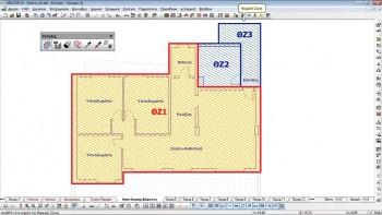 Καθορισμός διαφορετικών θερμικών ζωνών. Κλιμακοστάσιο και μηχανοστάσιο – μη θερμαινόμενοι χώροι. Υπόλοιπα δωμάτια – θερμαινόμενο χώροι.