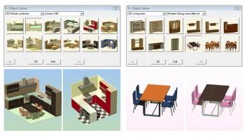 Βιβλιοθήκες αντικειμένων και δυνατότητα διαφορετικών υλικών.