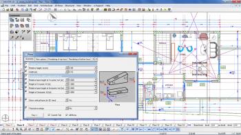 Το περιβάλλον εργασίας του Tekton 3D Design (αρχιτ. μελέτη: Ι.Σακελλάρης και Ο. Δούνη).