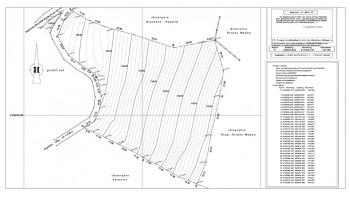 Τοπογραφικό σχέδιο και πίνακας συντεταγμένων