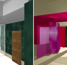 Μελέτη εσωτερικού χώρου κτιρίου γραφείων