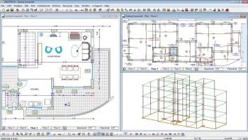Ο μελετητής δίνει την αρχιτεκτονική του λύση, συμπληρώνει με το στατικό μοντέλο, επιλύει το φορέα και κατασκευάζει όλα τα αναγκαία σχέδια