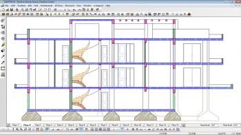 Αυτόματη παραγωγή τομών με αρχιτεκτονικά και στατικά στοιχεία