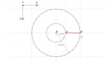 <b>Σχήμα 1:</b> Κατασκευή γραμμής ΑΒ στο επίπεδο ΧΖ