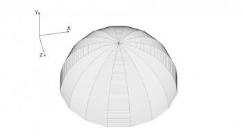 <b>Σχήμα 4:</b> Ο τρούλος κατασκευασμένος στο χώρο