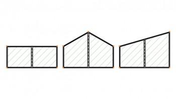 <b>Σχήμα 2:</b> Δυνατότητα αυτόματης παραγωγής φορτίων ανέμου σύμφωνα με τον Ευρωκώδικα 1 για επίπεδες, μονοκλινείς και δικλινείς στέγες.