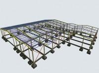 Μελέτη βιομηχανικού μεταλλικού κτιρίου με γραμμή παραγωγής