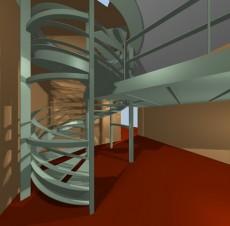 Φωτορεαλισμός Μεταλλικής εσωτερικής σκάλας – Σακελάρης Ι.