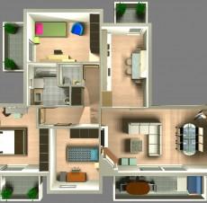Φωτορεαλιστική κάτοψη κατοικίας – ACE Design