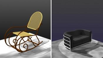 Ορισμένα από τα επώνυμα έπιπλα του Tekton, Επιλέξτε τα από την καρτέλα «3Δ Έπιπλα Design».