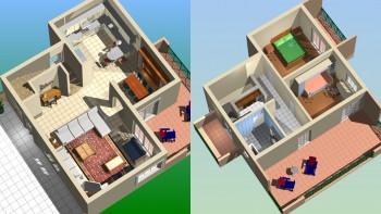 Φωτορεαλιστικές 3D κατοψεις μελέτης διώροφης κατοικίας με το Tekton 3D Design