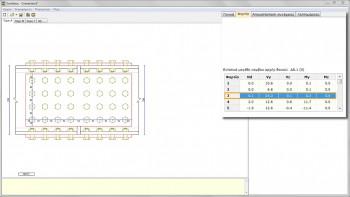 <b>Εικόνα 6:</b> Η καρτέλα «Φορτία» με τις καταπονήσεις της υπό εξέταση δοκού για κάθε έναν από τους συνδυασμούς φορτίσεων του αρχείου *.tek.