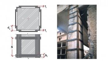Γεωμετρικά χαρακτηριστικά ενίσχυσης με μεταλλικό κλωβό