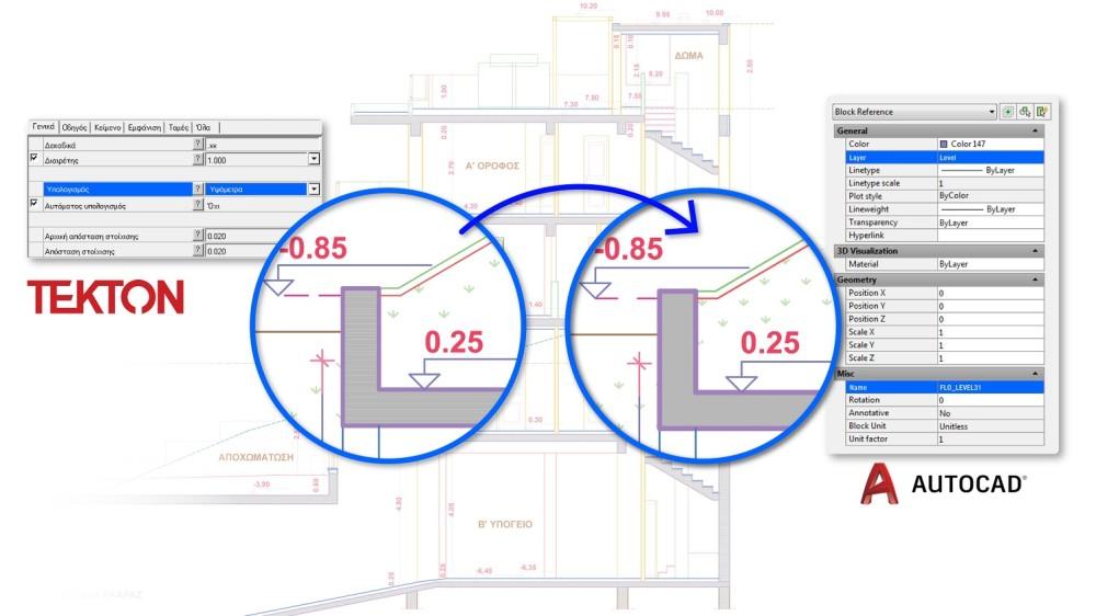 Aντιστοίχιση κάθε μορφοποίησης διάστασης του Fespa-Tekton σε ξεχωριστό Dimension Style στο AutoCAD